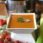 soup_tomato and micro green